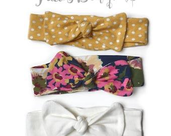 Baby Girl Headbands - Baby Accessories - Baby Turban Headband - Newborn Headband - Topknot -Toddler Knot Headband - Baby Headbands