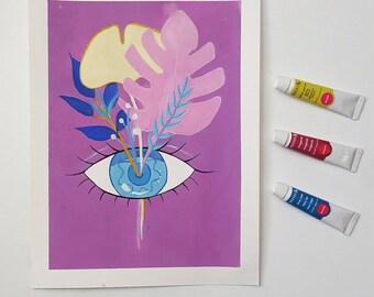 Blooming Eye Art Print