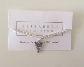fairy bracelet, fairy anklet, magical fairy, gift for girls, gift for her, silver chain, summer bracelet, girls present