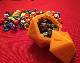 D20 of holding magnetic dice box