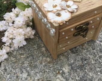 Rustic Handmade Ring Bearer Box
