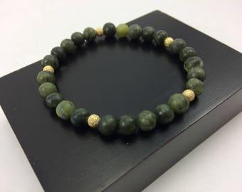 Upscale Genuine BC Jade & 14K Gold Fill Bead Bracelet, Yoga Bracelet, Healing bracelet, bead bracelet, jade bracelet, dainty bracelet
