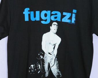 Fugazi t shirt (Large) *UNWORN* minor threat straight edge NYHC bad brains rites of spring black flag