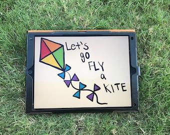 Fly A Kite print, kids, wall decor, home decor