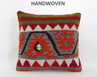 throw pillow antique kilim pillow boho rug pillow throw pillow cover decorative pillow home decor pillows 000880