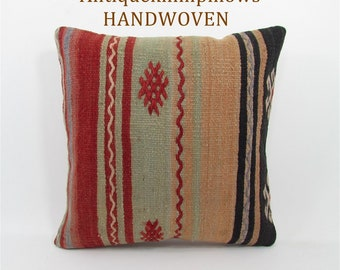kilim pillow home decor rug pillow vintage throw pillow cover decorative pillow mothers day gift for mom housewarming gift for women 1659