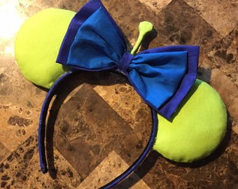 Green Alien Inspired Minnie Ears