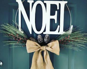 Noel Hoop Wreath