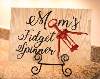 Mom's Fidget Spinner- Wall Art