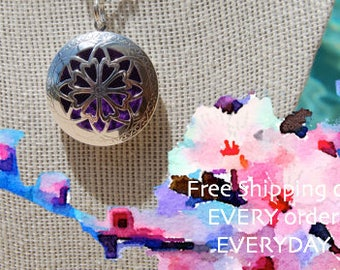Celtic Petal Oil Diffuser Necklace with Free Sample of doTerra Essential Oil