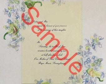 Custom handpainted wedding/event invitation