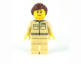 Female IDF Mini-Figure Air-Force - Israeli Air Force - Jewish Custom Lego® Set from JBrick