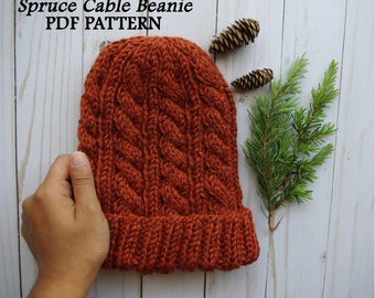 Spruce Cable Beanie Pattern