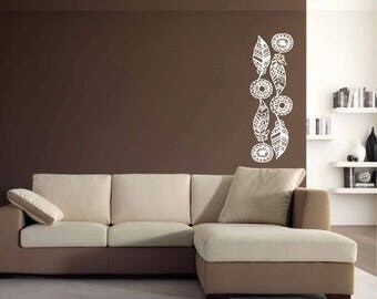 Feathers - Wall sticker, glass sticker, wall decal, glass decal, home sticker, window sticker, door sticker, home decal, wall decor wall art