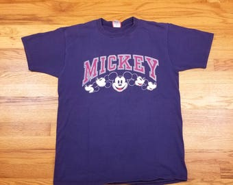 Vintage 90s Mickey Mouse Face Disney Shirt Size Large L