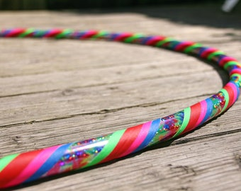 Hippy Disco Polypro Collapsible Hula Hoop