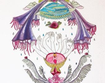 DESCIENDO Print for Mujer Torbellino