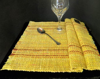 Placemats Pair - Sunshine Yellow