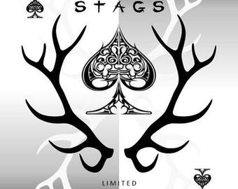 Black Stags Playing Cards Poker Magic Cardistry