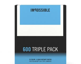 3-Pack Film for Polaroid 600 Cameras (by Impossible Project)