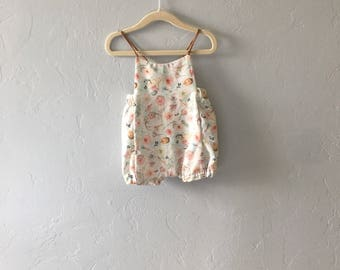 Floral Baby Romper // Girls Romper // Spring Baby Clothes // Birthday Outfit // Toddler Romper // Boho Baby Toddler  // Bubble Romper
