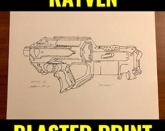 "Nerf Rayven Print 8.5""x11"""