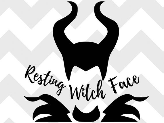 resting witch face SVG disney SVG halloween halloween svg