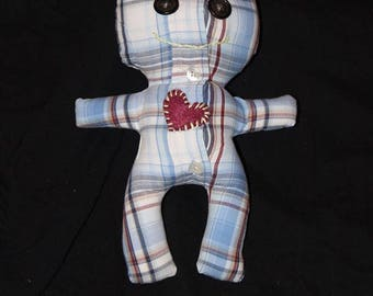 Handmade upcycled Voodoo love doll