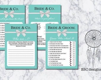 Bride and Co Bridal Shower Games   Hens Night Games   Designer Inspired