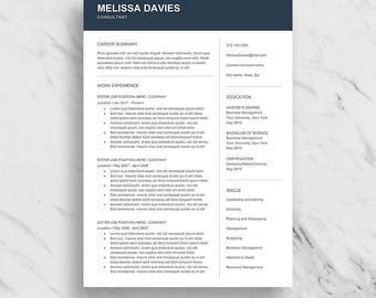 Professional Resume Template for Word | Modern Resume Design | CV Template for Word | Clean Resume Download | Creative Resume Template
