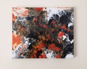 Fire | Fluid Acrylic Pour Painting on Canvas | Medium Sized | Original Art