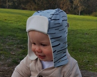 Free Shipping / Baby Hat / 100% Organic Cotton + Bamboo / Baby Cap / Woodcutter Hat / Green / Jersey Cotton / Girl / Boy / Baby Shower Gift