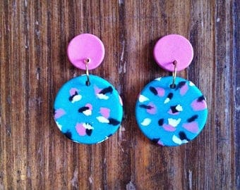 Clay drop earrings