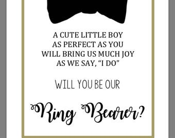 Ring bearer proposal/ Printable ring bearer card
