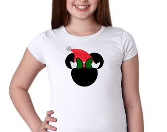 Minnie Santa Clause - Minnie Mouse Shirt - Disney Santa - Mickey's Very Merry - Disney Holiday Shirt - Disney Girls Shirt -Disney Kids Shirt
