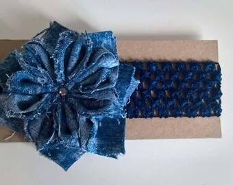 Flower headband foe chiffon jeans flower
