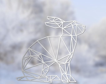 Geometric Hare Vinyl Decal