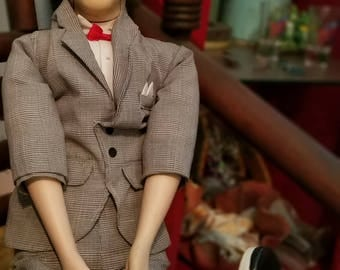 1980s Collectible Pee Wee Herman Ventriloquist Doll