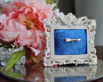 White Baroque Pin Frame