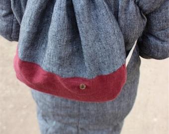 Hemp Bag, Hemp Backpack, Unisex, Organic Fashion, Handmade, Vegan, 100% Hemp