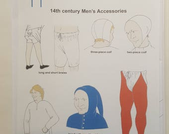 Reconstructing History Pattern #024: 14th Century Men's Accessories