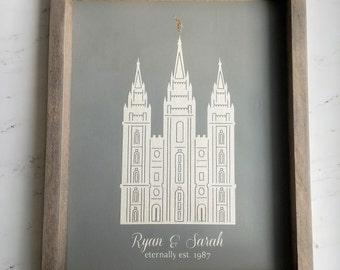 Light Grey LDS Temple