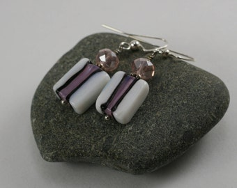 Hand crafted glass bead dangle earrings