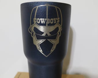 Dallas Cowboys Skull 30oz (add name for free)