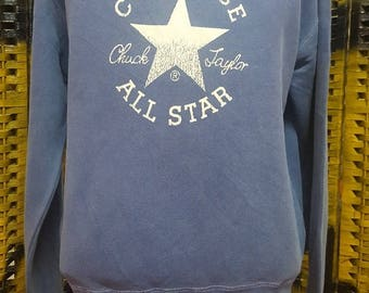 Vintage CONVERSE All Star / Chuck Taylor / big logo spell out / XL size sweatshirt (B38)