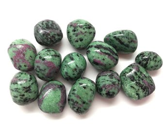 Ruby Zoisite Tumbled Stone #T11
