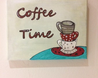 Square Coffee Time-Handmade