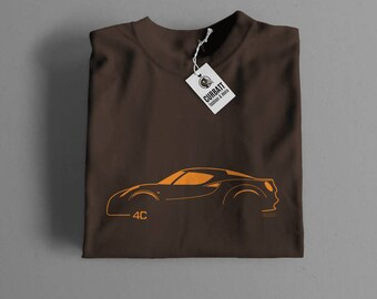 T-shirt Alfa Romeo 4C | Gent, Lady and Kids | all the sizes | worldwide shipments | Car Auto Voiture