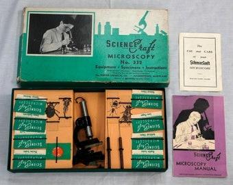 Vintage ScienceCraft Microscopy Set
