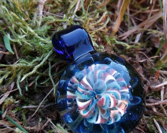 handmade glass implosion pendant